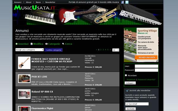 strumenti musicali usati